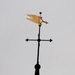 Gilded weather vane - St Lawrence, Alton