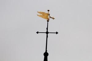 Gilded weather vane - St Lawrence, Alton